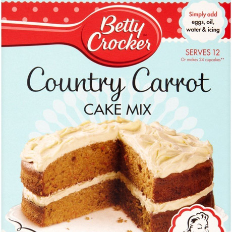 A packet of carrot cake mix.