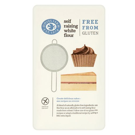 A packet of gluten free self raising white flour