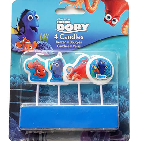 Finding Dory candles in their commercial packaging