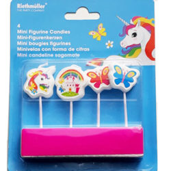 Unicorn Birthday Cake Candle in packaging